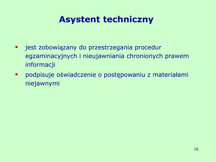 Asystent techniczny