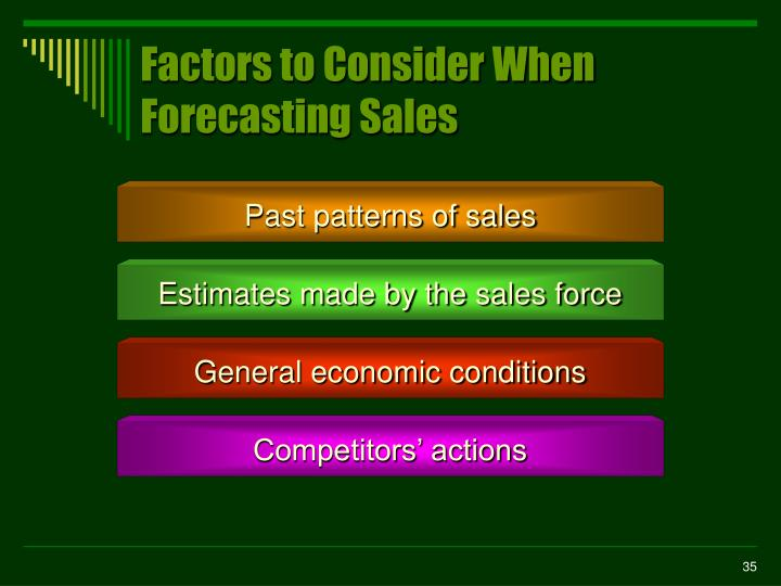 Factors to Consider When Forecasting Sales