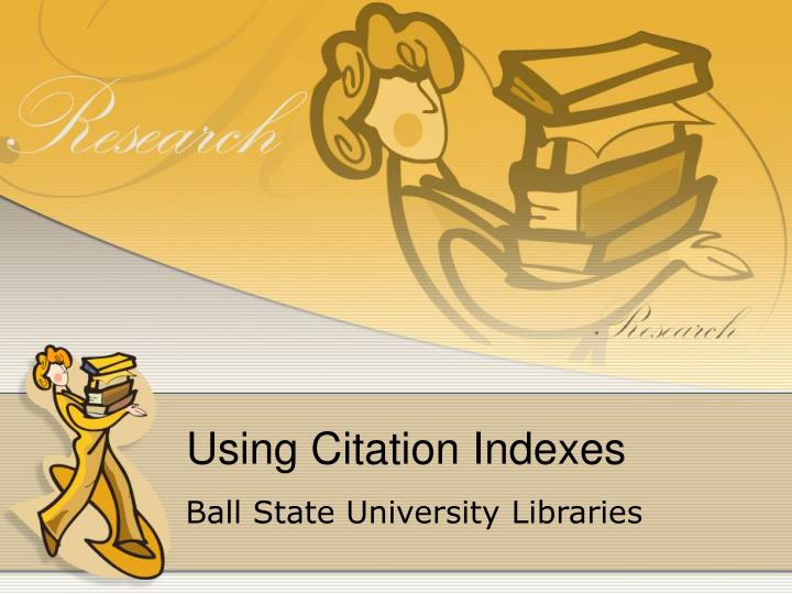 using citation indexes n.