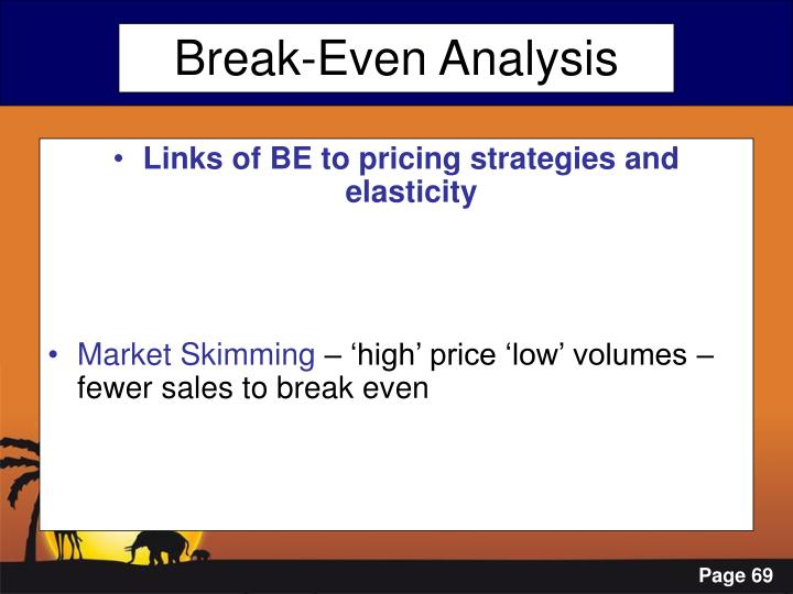 Links of BE to pricing strategies and elasticity