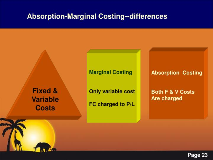 Absorption-Marginal Costing--differences