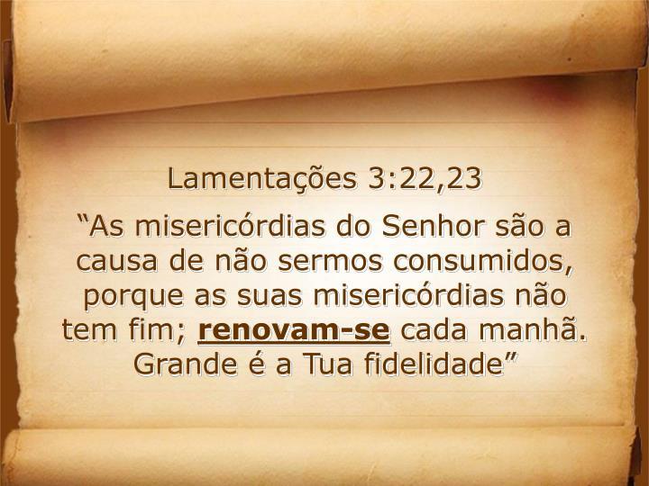Lamentações 3:22,23