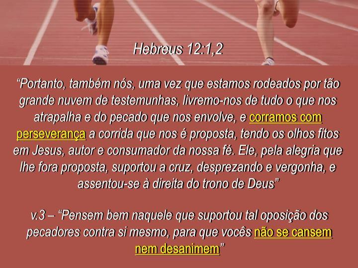 Hebreus 12:1,2