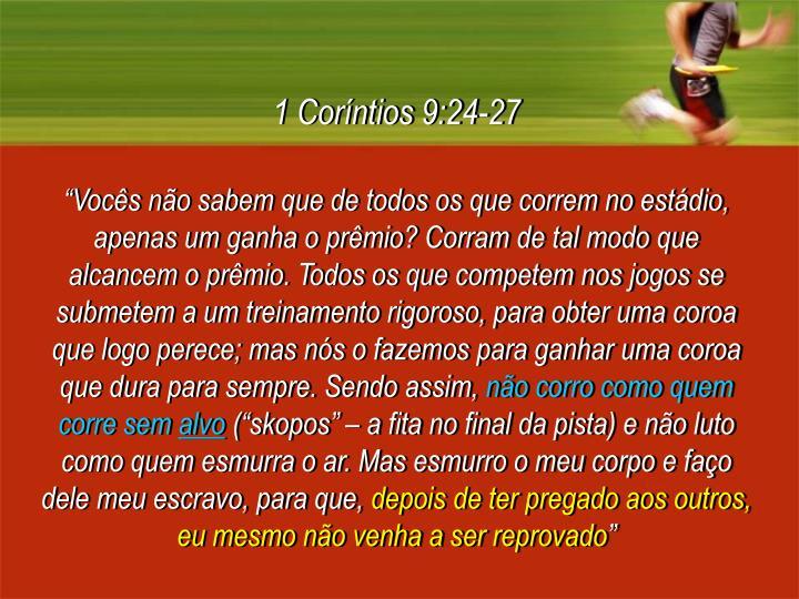 1 Coríntios 9:24-27