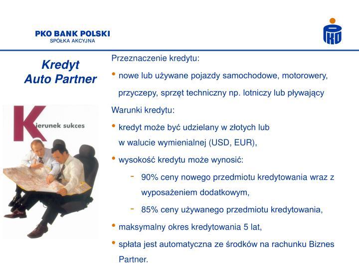 Przeznaczenie kredytu: