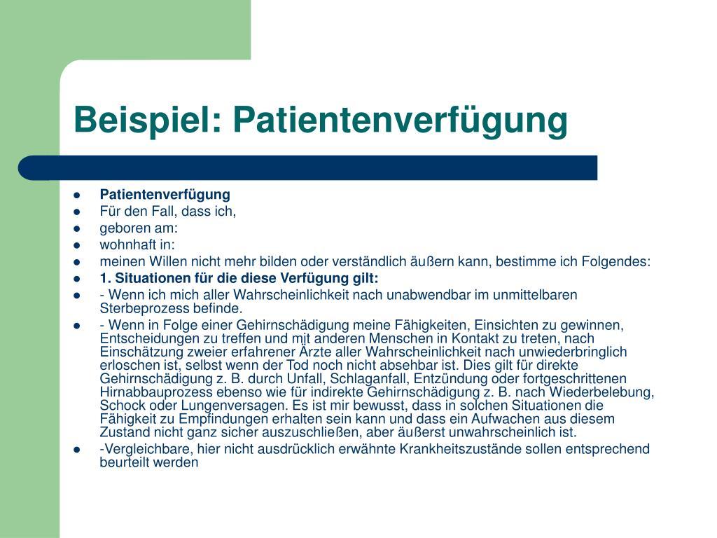 Orientierungshilfe Zur Patientenverf