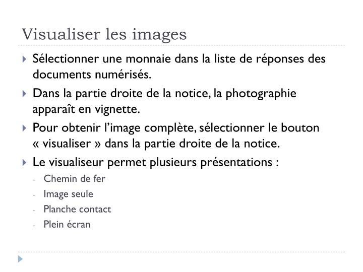 Visualiser les images