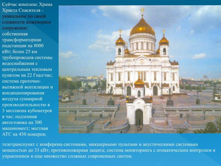 Сейчас комплекс Храма Христа Спасителя -