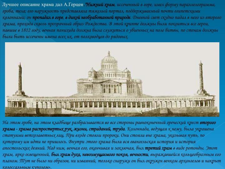 Лучшее описание храма дал А.Герцен