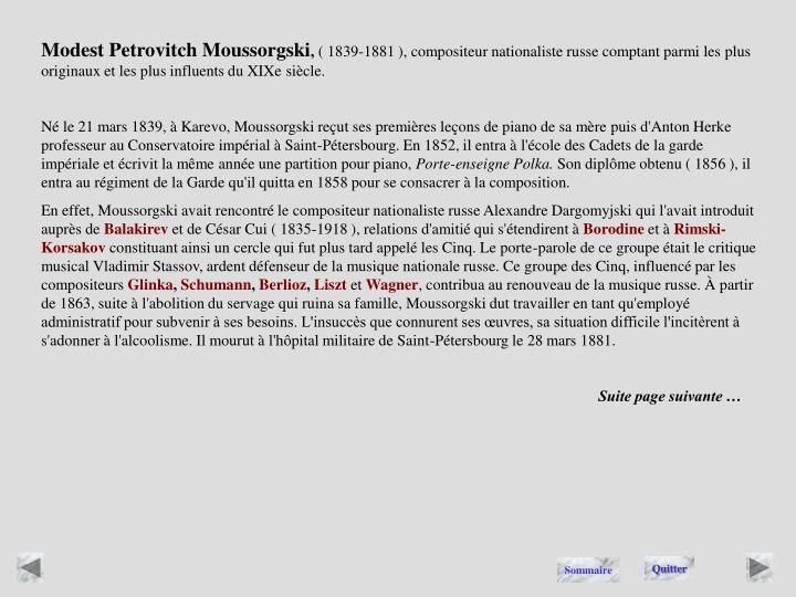 Modest Petrovitch