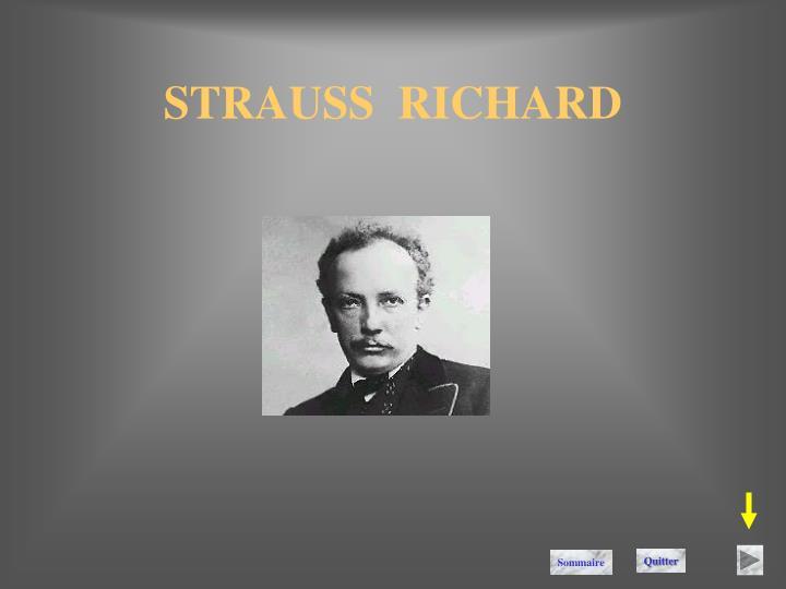 STRAUSS  RICHARD