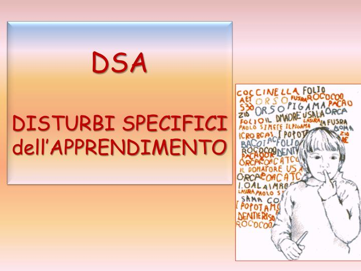 Dsa disturbi specifici dell apprendimento