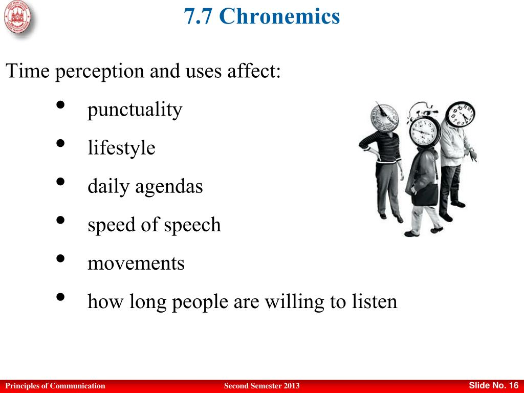 Ppt Principles Of Communication Powerpoint Presentation Free Download Id 5053480 Chronemics is a field of study examining the utilization of time in nonverbal communication. principles of communication powerpoint
