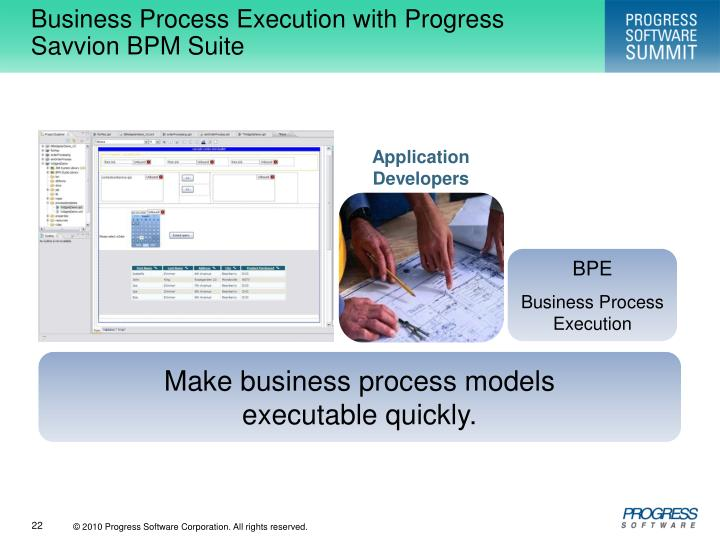 Business Process Execution with Progress Savvion BPM Suite