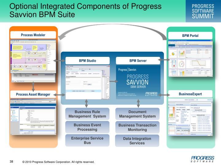 Optional Integrated Components of Progress Savvion BPM Suite