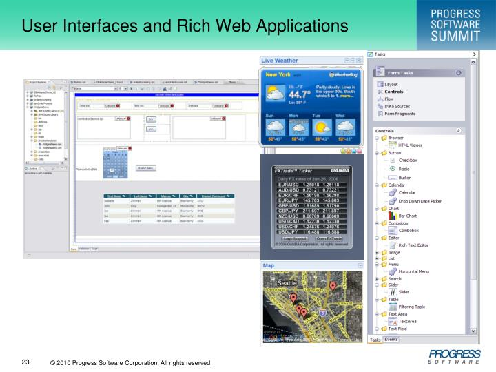 User Interfaces and Rich Web Applications