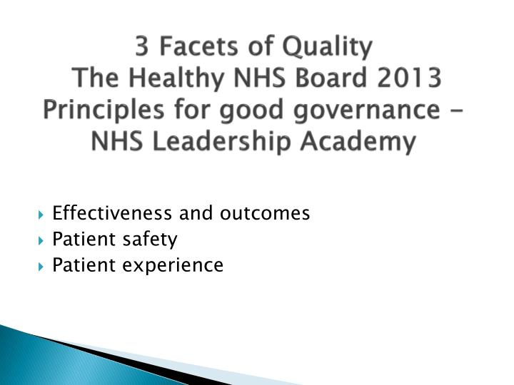 3 Facets of Quality