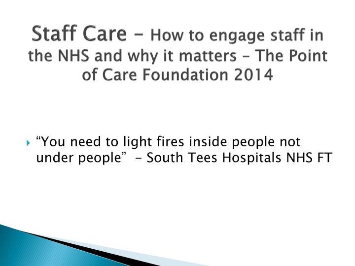 Staff Care –