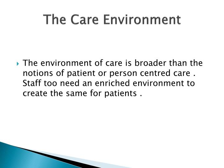 The Care Environment