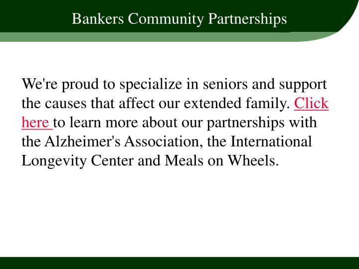 Bankers Community Partnerships