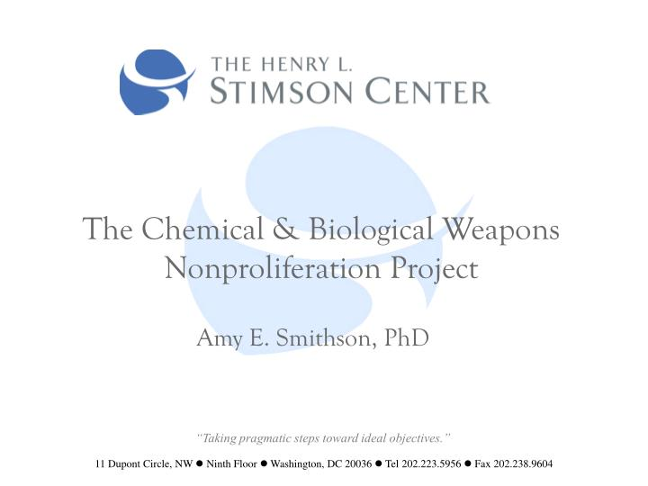 the chemical biological weapons nonproliferation project n.