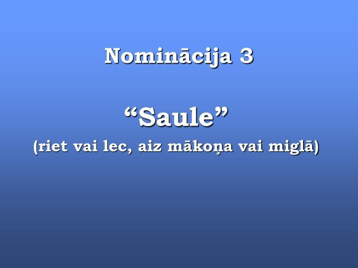 Nominācija 3