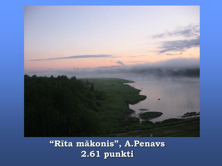 """""""Rīta mākonis"""", A.Penavs"""