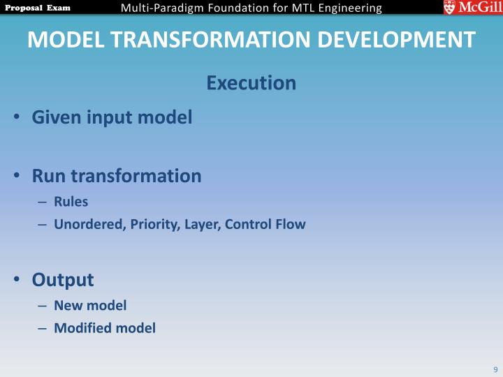 Model Transformation Development