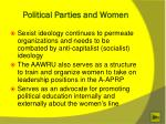 political parties and women1