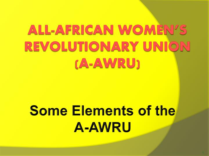 some elements of the a awru