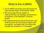what is the a awru1