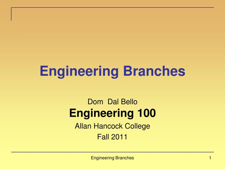engineering branches n.