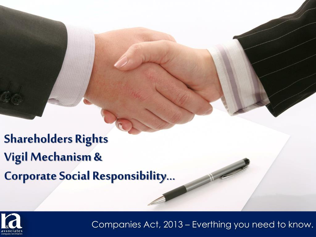 rights of shareholders under companies act 2013