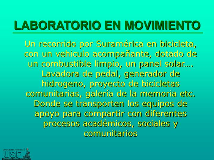 LABORATORIO EN MOVIMIENTO