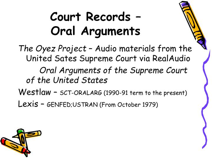 Court Records –