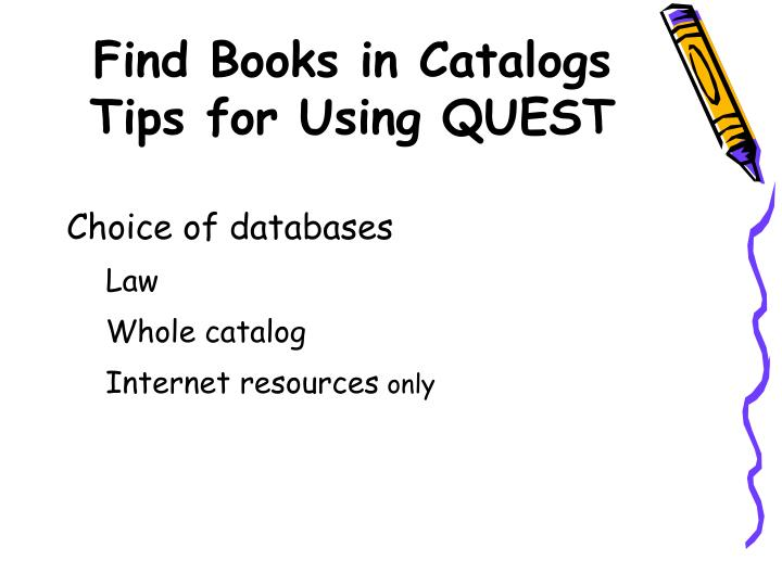 Find Books in Catalogs