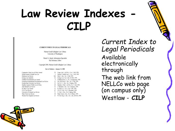 Law Review Indexes - CILP