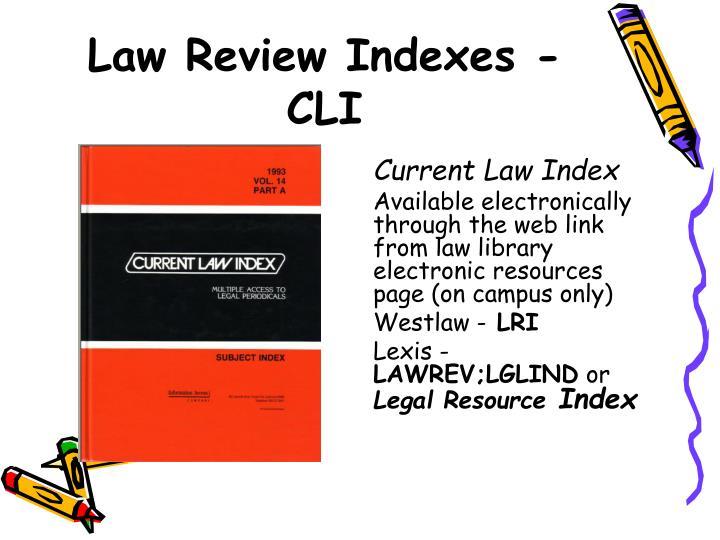 Current Law Index