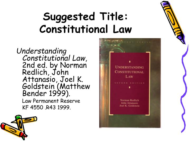 Suggested Title: Constitutional Law