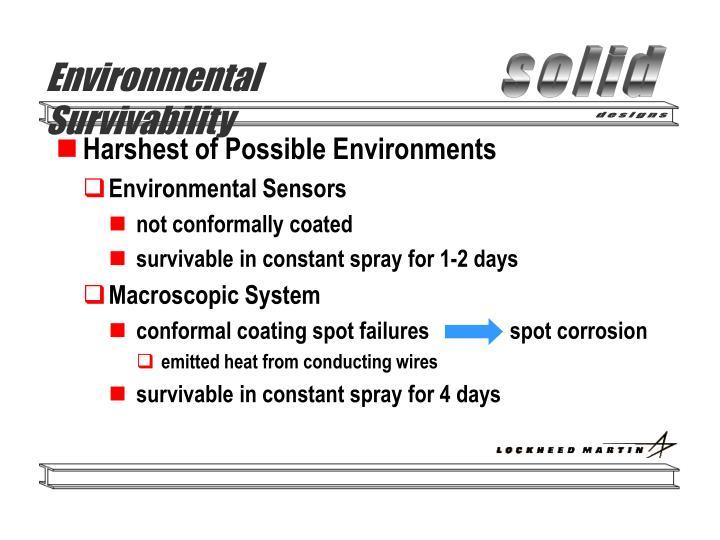 Environmental Survivability