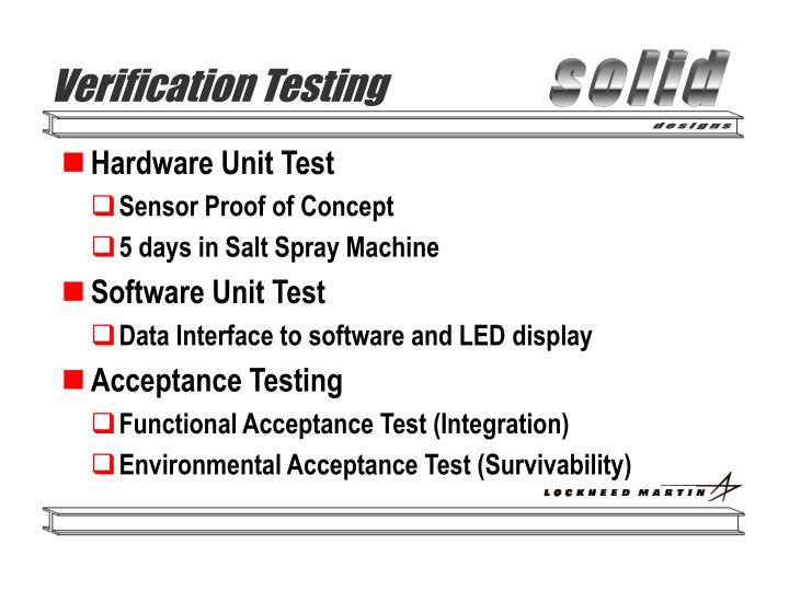 Verification Testing