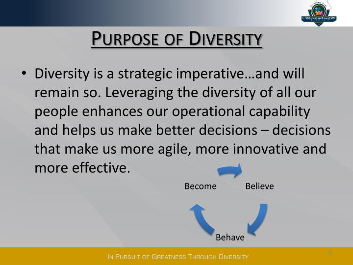 Purpose of Diversity