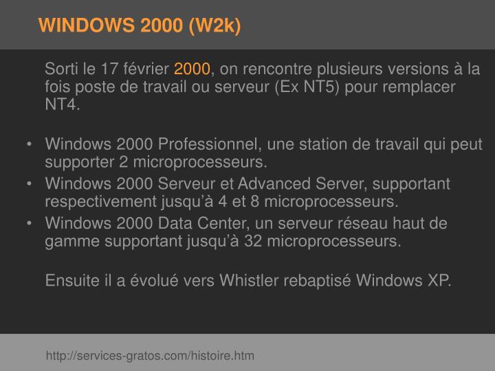 WINDOWS 2000 (W2k)