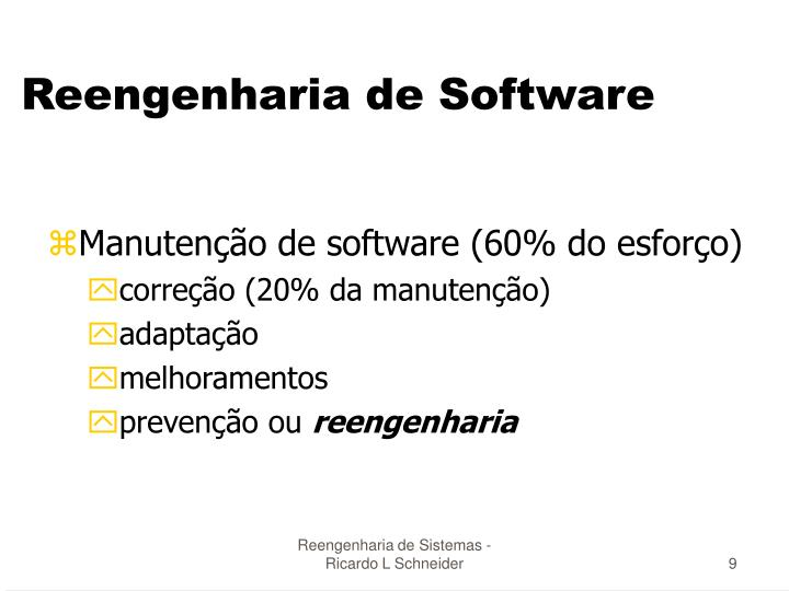 Reengenharia de Software