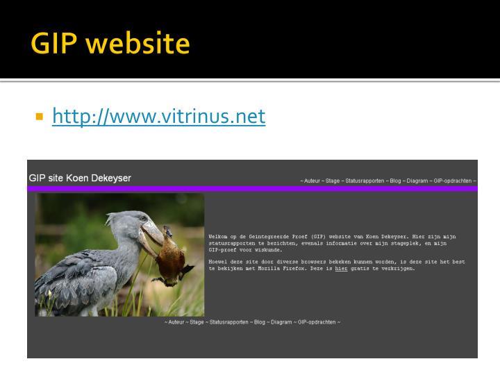 GIP website