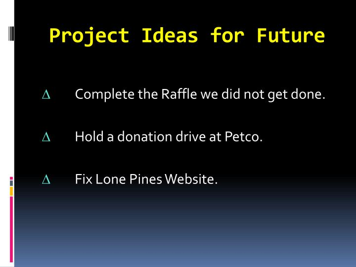 Project Ideas for Future