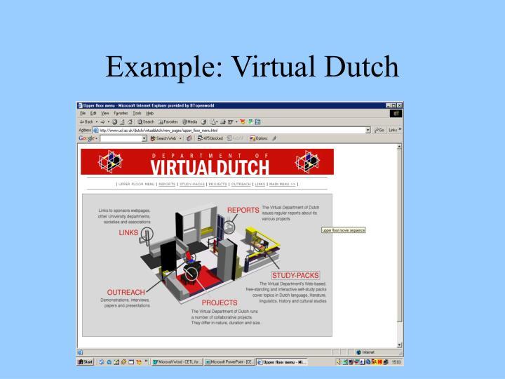 Example: Virtual Dutch