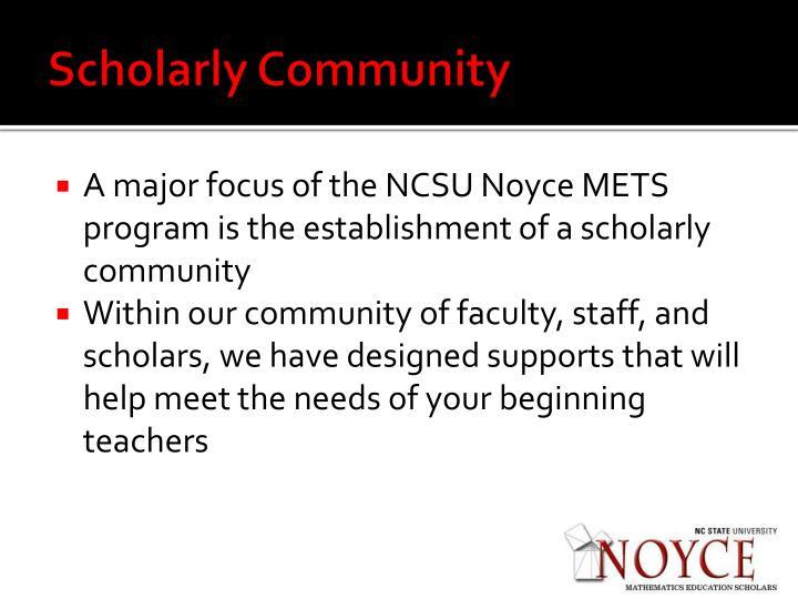 Scholarly Community