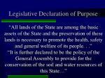 legislative declaration of purpose