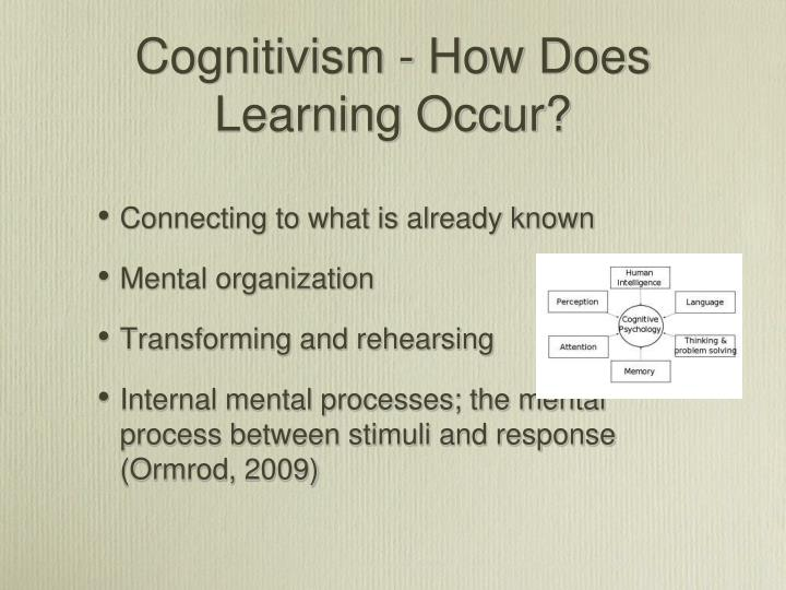 Cognitivism - How Does Learning Occur?